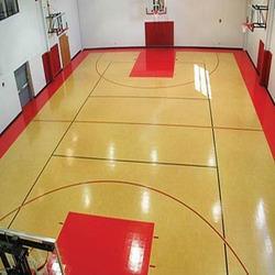 Indoor basketball flooring gurus floor for Indoor basketball court cost estimate