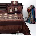 Silk Embroidery Bed Cover Mugal Boota
