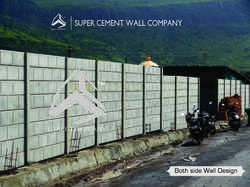 RCC Concrete Folding Readymade Compound Wall