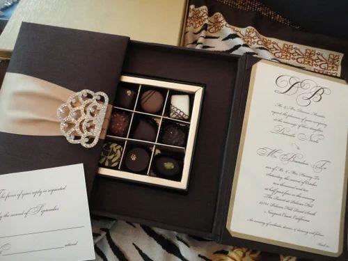 Silk Invitation Box