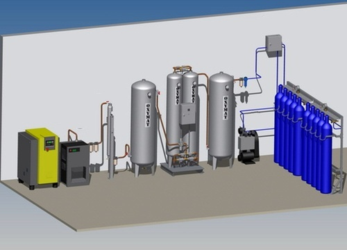 Medical Oxygen Gas Plant With Cylinder Filling Station