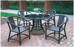 Rattan Style Wicker Outdoor Coffee Set