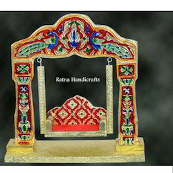 Meena Wood Decorated Rh Jhula, For Decorative, Size/Dimension: Options
