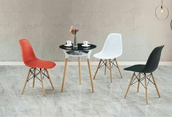 Wooden Cafe Chair, Size: 2 feet