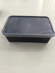 Black Series Plastic Food Container