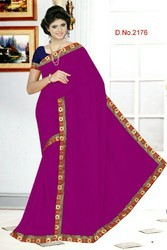 Ladies Lace Border Sarees