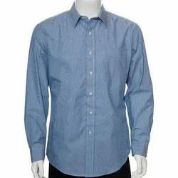 Cotton Blue Men's Fancy Shirt