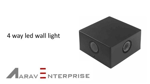 LED 4 Way Square Wall Light