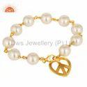 925 Silver Pearl Gemstone Bracelets
