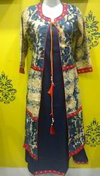 Embroidered Jacket Kurti