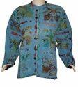 Quilted Kantha Jacket Reversible Hippie Boho Coat