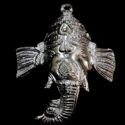 Aluminium Handecor Ganesh Metal Face Statue