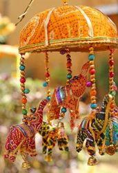 Rajasthani Elephant Basket Hanging