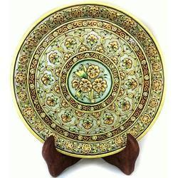 Marble Decor Round Plate MB070