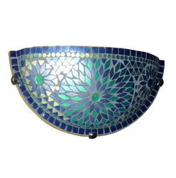 Blue Mosaic Wall Uplighter