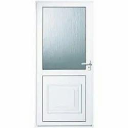 White Aluminium Bathroom Door
