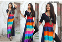 Stitched Half Sleeve New American Crepe Western Kurti, Size: L and XL