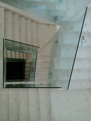 101-500 Square Feet Transparent 12mm Toughened Glass, Shape: Flat