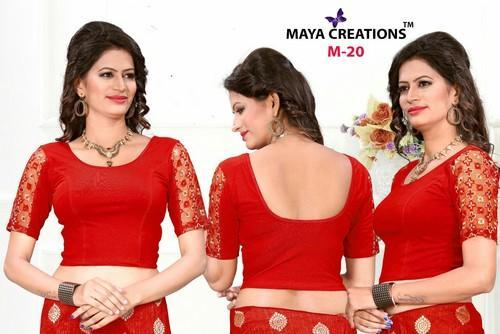 Maya Creation Elbow Sleeves Stratchable Blouse