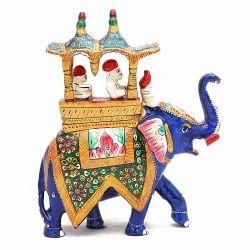 Meenakari Work Elephant Savari MT107