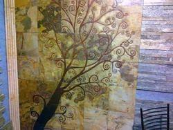 Slate Stone Mural - Boudhic Tree