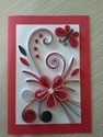 Hand Made Quilling Greeting Card