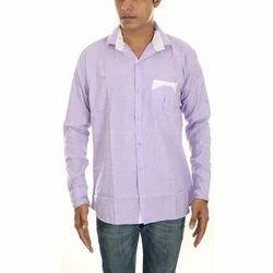 Mens Full Sleeve Formal Plain Shirt, Size: 38 & 40