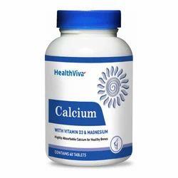 Healthviva Calcium, 60 Tablet Unflavoured