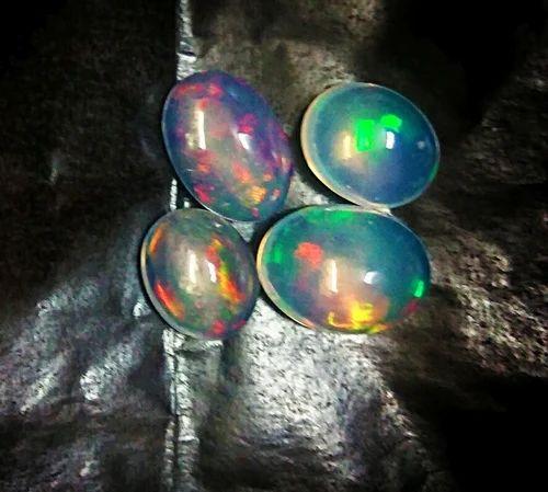 Natural Beautiful Ethiopian Opal Multi-Fire Cushion Cut Stone Faceted Gemstone