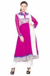 Beautiful Printed Pink Colored Casual Girls Dresses