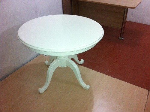 Polish Round Table.Office Furniture Round Table In Pu Polish Manufacturer From New Delhi