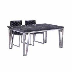 Stainless Steel Dining Table, Shape: Rectangular