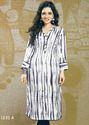 Adara Satin Cotton Rayon Combo Printed Kurtis