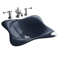 Dolce Cast Iron Self-Rimming Lavatory Without Faucet Hole