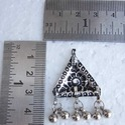 Triangle Shape Silver Plated Pendants