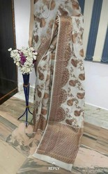 One colour Silk Sare And Chadar