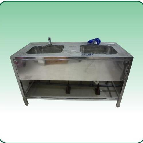 Stainless Steel Delux Double Sink With Platform