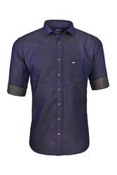 Violet and Grey Party Wear Shirt