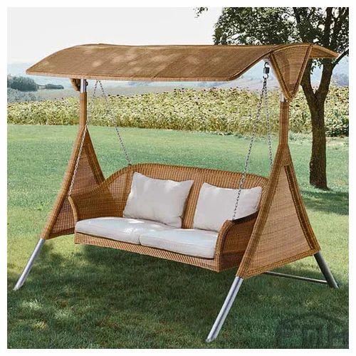 Outdoor Wicker Two Seater Swing Kingston Premium Outdoor Swings