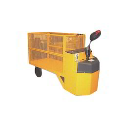 Battery Operated Walkie Platform Truck