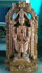 3 FT Lord Balaji Wooden Statue