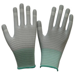 PU Finger ESD Stripe Gloves