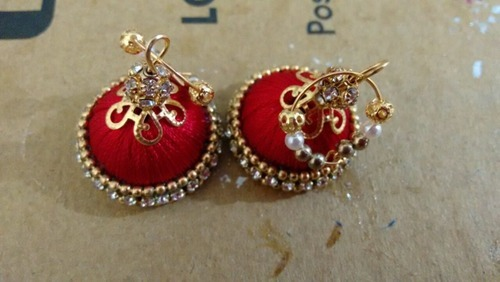 proddetail silk handcrafted at kundalahalli pair rs product earrings jhumka