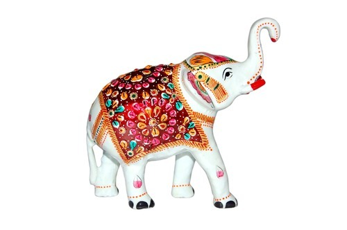 Handcrafted Metal Elephant Statues