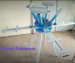 Manual 4 Station 4 Color Screen Printing Machine