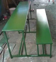 Green Steel School Desk