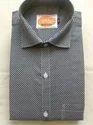 Khadi Cotton Black Solid Block Shirt
