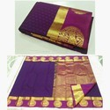 Round border silk Saree