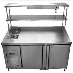 SS Service Counter with Refrigerator