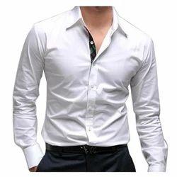Cotton Plain Men Casual Shirts